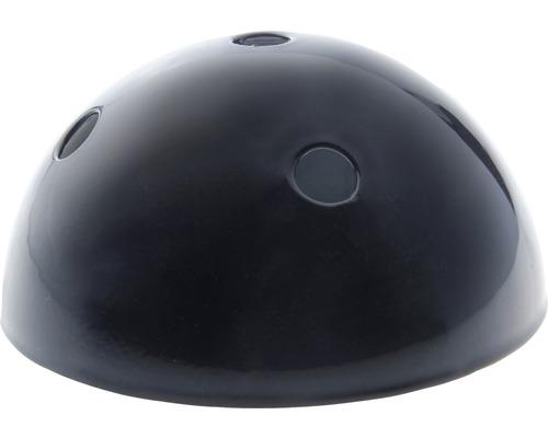 Baldachýn kovový 5 otvorov čierny Ø 100 mm
