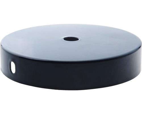 Baldachýn plochý čierny 95 mm