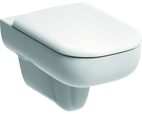 Závesné WC GEBERIT biele s hlbokým splachovaním a bez splachovacieho okruhu Smyle Keratec 205560600