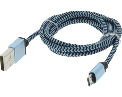Dátový kábel MICRO USB 1m modrá