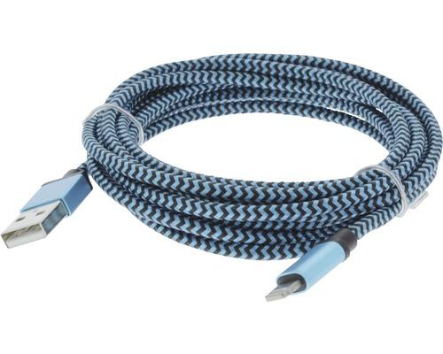 Dátový kábel MFI 8 PINS 2,5 m modrá