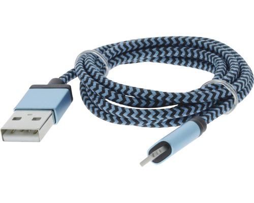 Dátový kábel MFI 8 PINS 1m modrá
