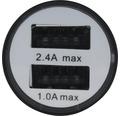 USB nabíjačka 1 2V 2XUSB 5V 2.4A čierna