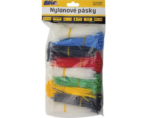 Sťahovacia páska, farebné, 2,5 x 100 mm, 900 kusov