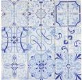 Sklenená mozaika CM Malta Crystal biela/modrá 30x30 cm