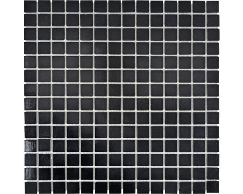Sklenená mozaika GMA49 uni čierna 30,5x30,5 cm