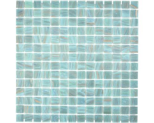 Sklenená mozaika GMGS454749 tyrkysová 30,5x30,5 cm