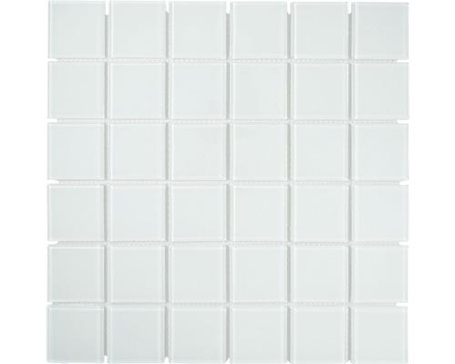 Sklenená mozaika CM4SE30F Crystal uni biela 30x30 cm