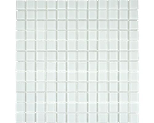 Sklenená mozaika CM4SE40 Crystal uni biela 30x30 cm