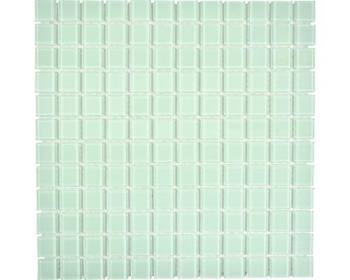 Sklenená mozaika CM4SE73 Crystal uni svetlo zelená 30x30 cm