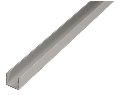 U profil ALU strieborný eloxovaný 20x18x20x1,3 mm, 2 m