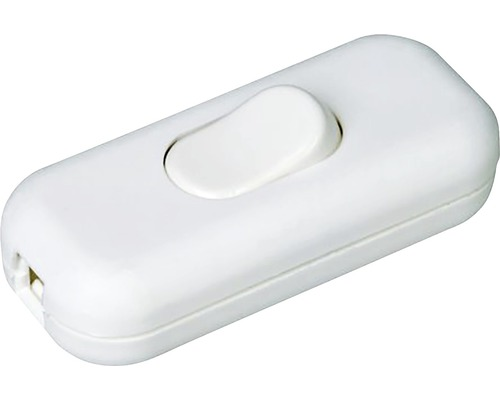 Mezišnúrový vypínač biely 0,5A