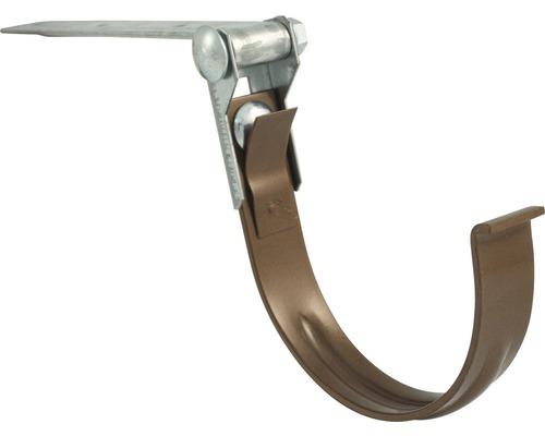 Odkvapový hák Marley 100 mm s otočným kĺbom hnedý