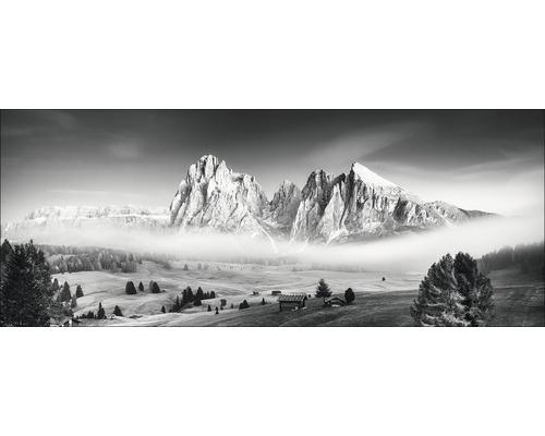 Sklenený obraz Mist & Mountain 50x125 cm