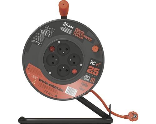 Predlžovací kábel na bubne EMOS H05VV-F3G 1,5/25m