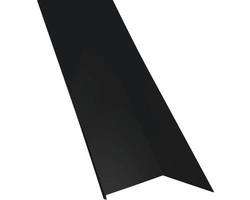 Záveterná lišta pre manzardy vonkajšia čierna dĺžka 1 m