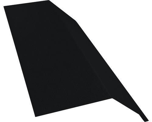 Žľabový záves bez vodnej drážky čierny dĺžka 1 m