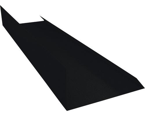 Záveterná lišta čierna dĺžka 1 m