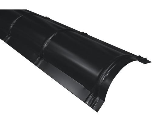 Hrebenáč polguľatý čierny dĺžka: 1,00m