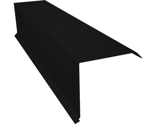 Záveterná lišta pre trapézové plechy čierna dĺžka 1 m
