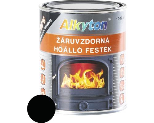 Alkyton žiaruvzdorná farba čierna 0,75 l ,750 °C