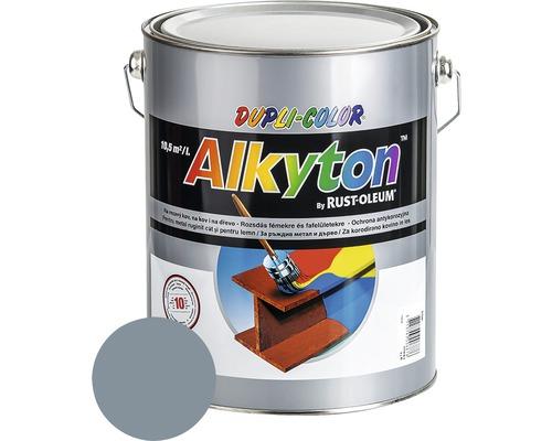 Lak na drevo Alkyton lesk 5 l šedá svetlá RAL7001