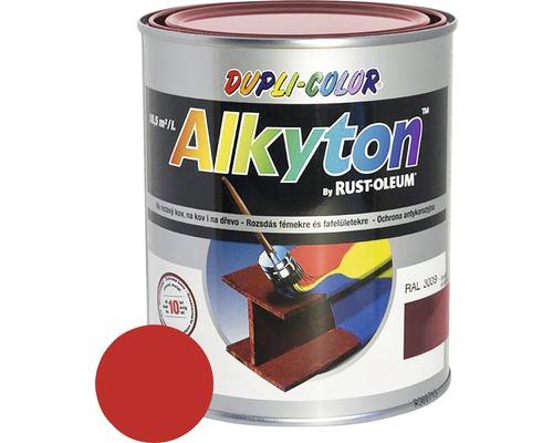 Lak na drevo Alkyton lesk 0,25 l červená RAL3020