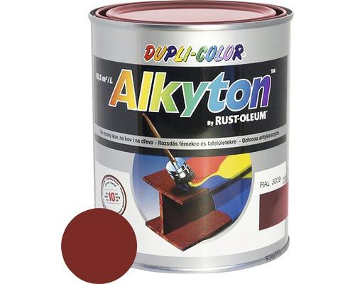 Farba na kov Alkyton lesk 0,75 l oxid.červená RAL3009