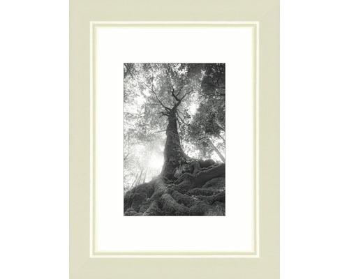 Drevený fotorámik Modern krémovo biely 9x13 cm