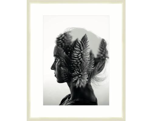 Drevený fotorámik Modern krémovo biely 40x50 cm