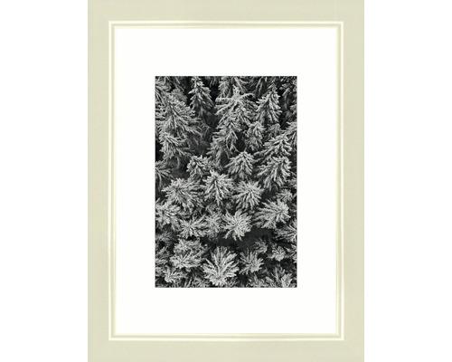 Drevený fotorámik Modern krémovo biely 13x18 cm