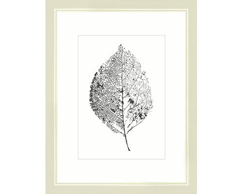 Drevený fotorámik Modern krémovo biely 18x24 cm