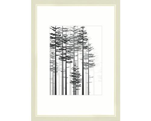 Drevený fotorámik Modern krémovo biely 21x29,7 cm (A4)