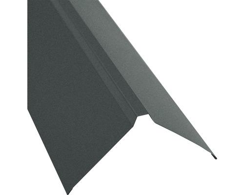 Strešné hrebeň rovný pre trapézový plech S18 matná šedá 95 x 95 mm x 1 m