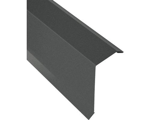 Záveterná lišta pre trapézový plech S18 matná šedá 1 m
