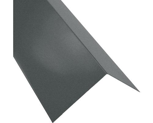 Záveterná lišta pre manzardy vonkajšie S18 matná šedá 1 m