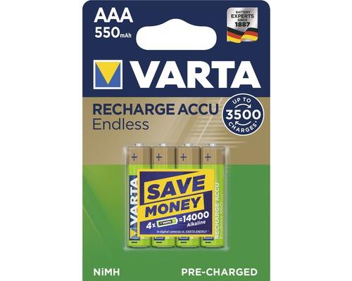 Dobíjacie batérie Varta AAA 550mAh 4 kusy