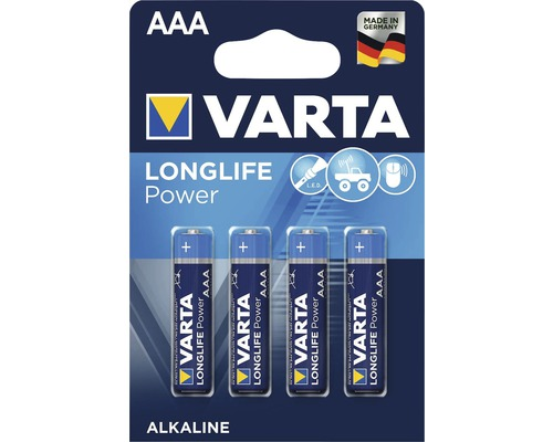 Alkalická batéria micro high energy, 4 kusy