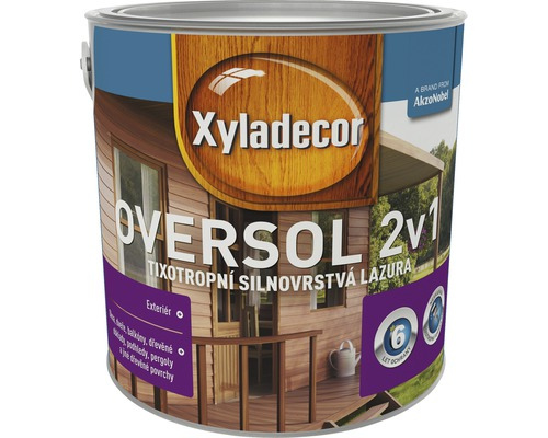 Lazúra na drevo Xyladecor Oversol meranti 2,5L
