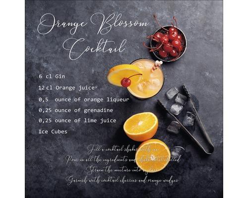 Sklenený obraz Orange 30x30 cm