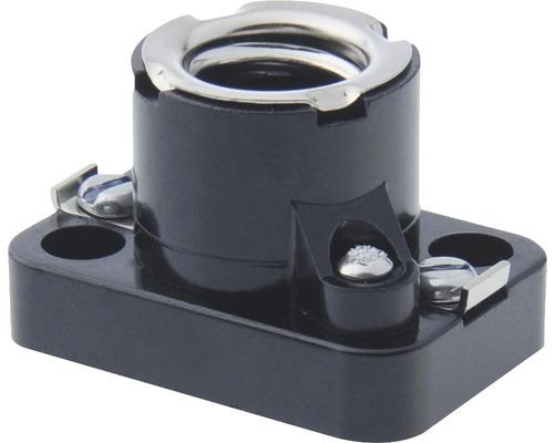 Objímka E14 plast vstavaná čierna