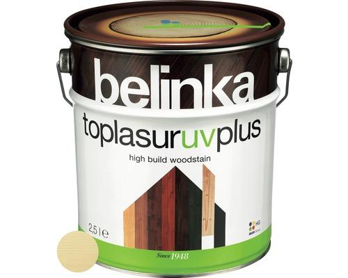 Silnovrstvá lazúra Belinka Toplasur bezfarebná 2,5 l
