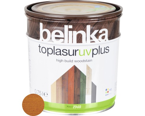 Silnovrstvá lazúra Belinka Toplasur mahagón 0,75 l