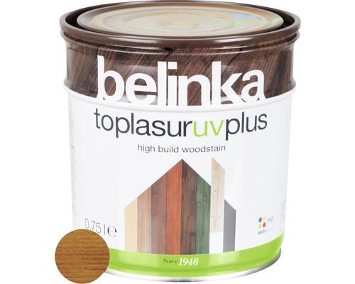 Silnovrstvá lazúra Belinka Toplasur teak 0,75 l