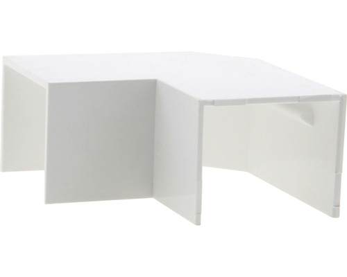 Ukončovací profil biely plochý uhol 30x25 mm