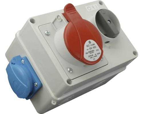 Zásuvková skrinka s vypínačom 220V+380V16A/5ti