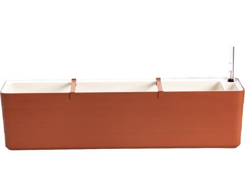 Samozavlažovací truhlík Lafiora Berberis 80 cm terakota