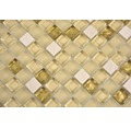 Sklenená mozaika s prírodným kameňom XCM M910 30,5x32,5 cm béžová/zlatá