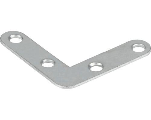 Spojovací plochý uholník pozinkovaný 40x40x10 mm
