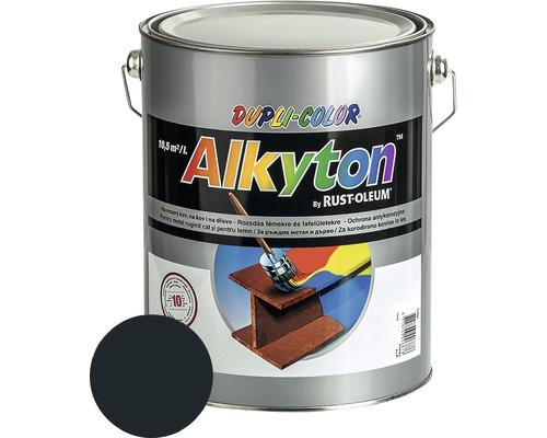 Farba na kov Alkyton lesk 5 l antracitovo sivá RAL7016